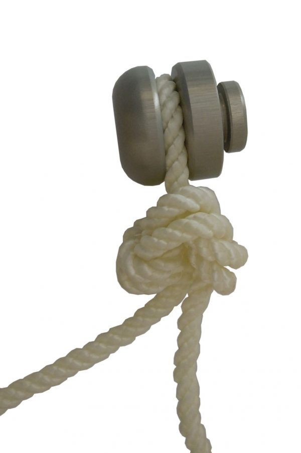 Cervical Traction 2 Piece wallmount Knob with safety knot in rope