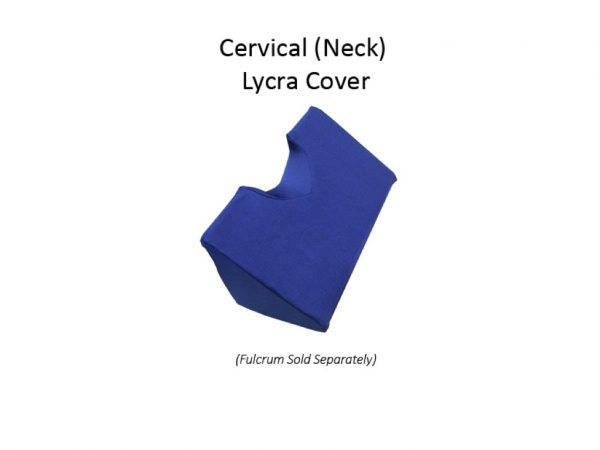 Blue Lycra Cover made to fit the Pettibon System Neck (Cervical Dorsal) Fulcrum