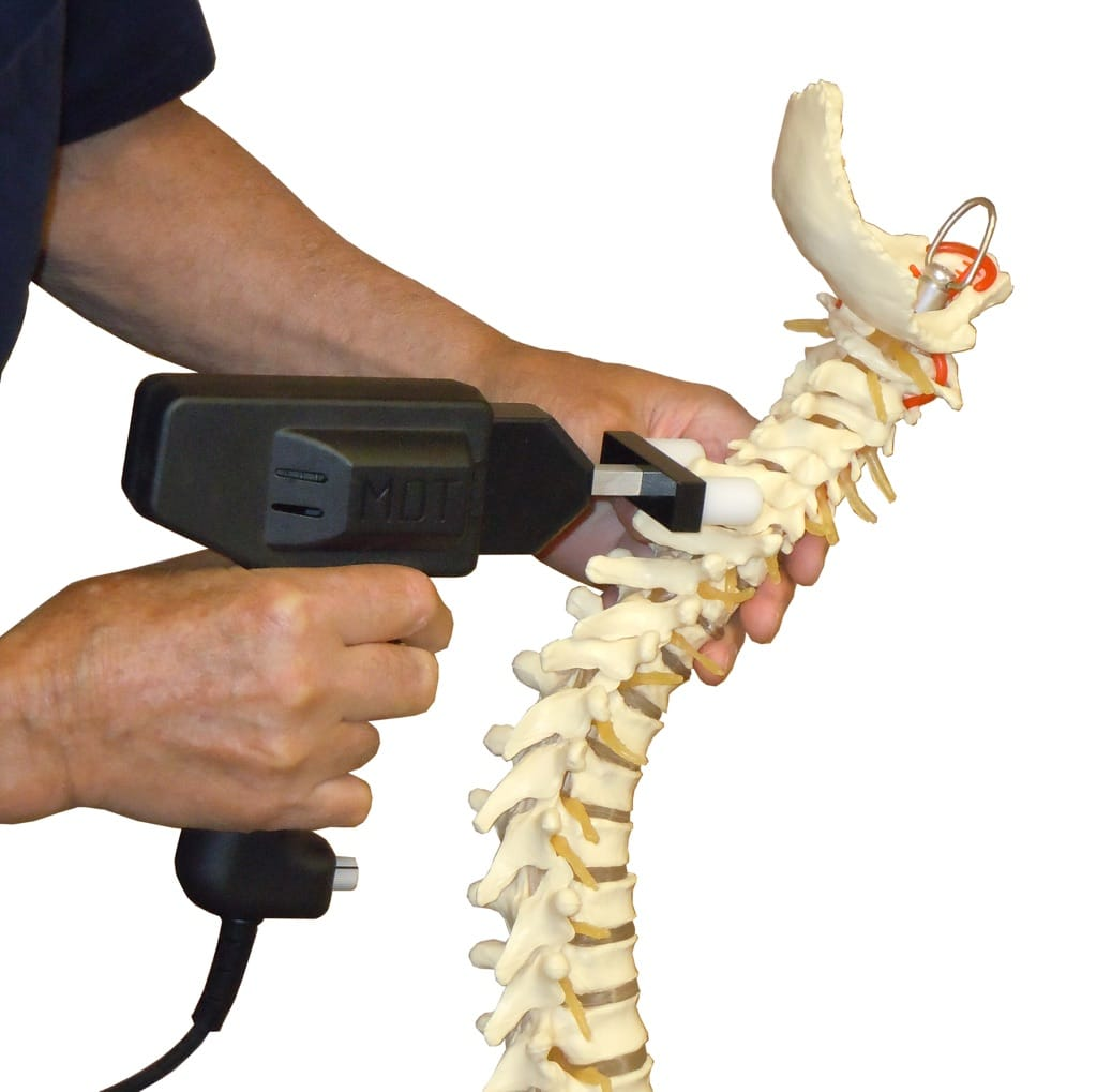 Multiple Digital Toggle Being Demonstrated On A Model of the human spine