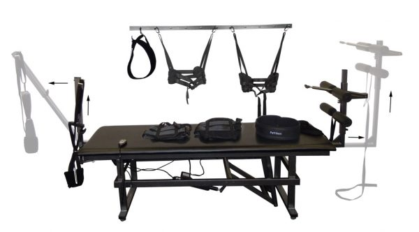 PT-5 Decompression Table with belts and harnesses accessories