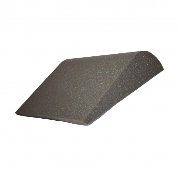 Uncovered contoured low back support