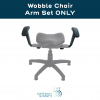Replacement Arm Set for Therapeutic Wobble Chair with text reading Wobble Chair Arm Set Only