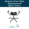 Replacement Seat Pad for Therapeutic Wobble Chair with seat highlighted and text at the top reading Wobble Chair Seat Replacement Seat Only